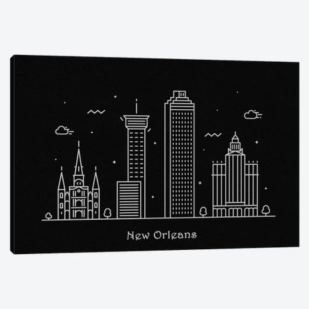 New Orleans Canvas Print #ADA98} by Ayse Deniz Akerman Canvas Art