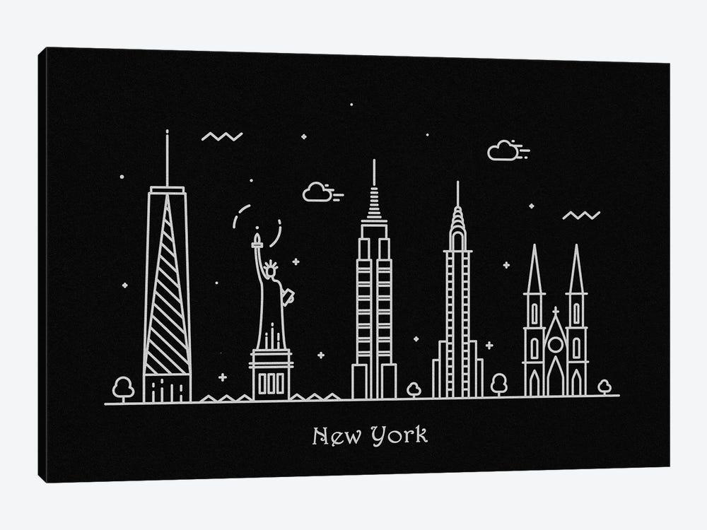 New York by Ayse Deniz Akerman 1-piece Canvas Print