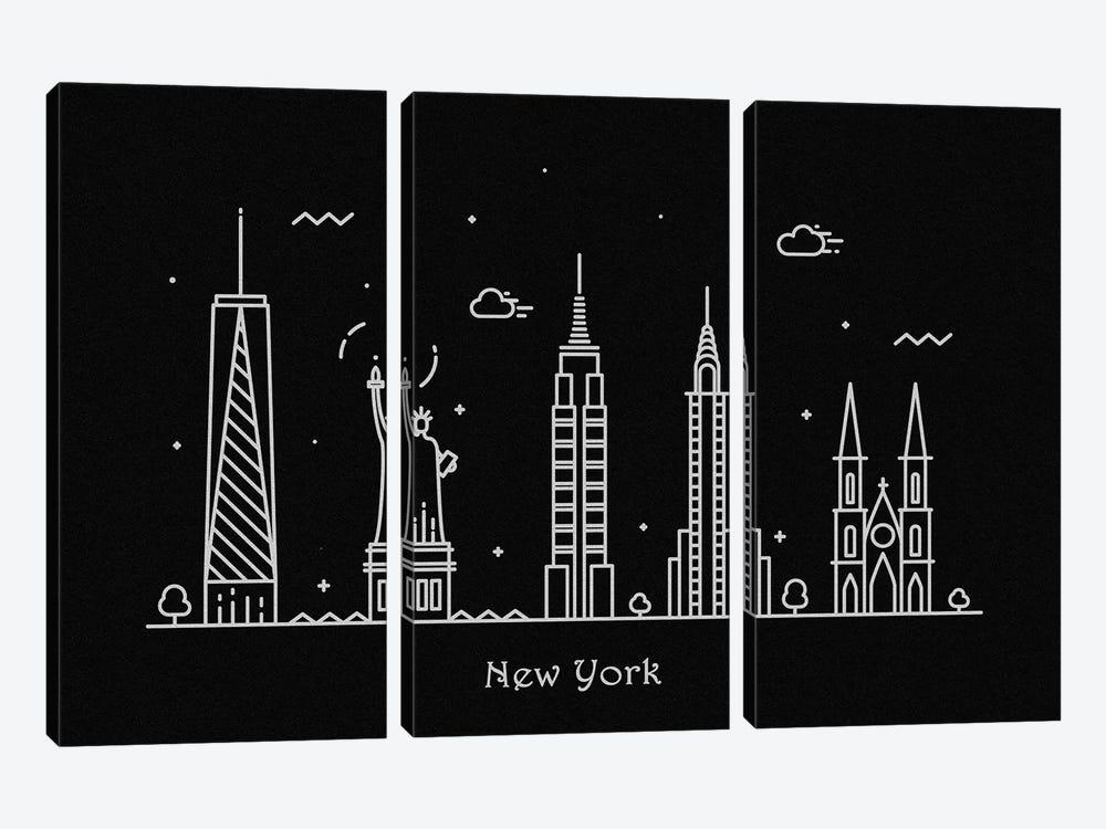 New York by Ayse Deniz Akerman 3-piece Art Print