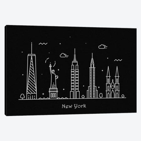 New York Canvas Print #ADA99} by Ayse Deniz Akerman Canvas Wall Art