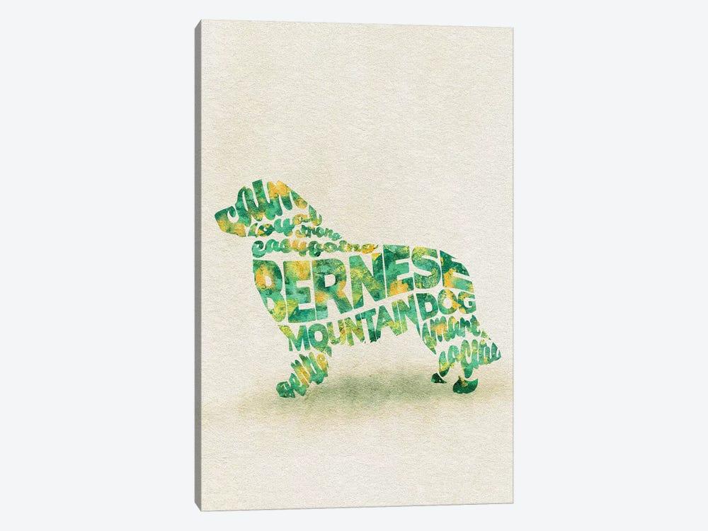 Bernese Mountain Dog by Ayse Deniz Akerman 1-piece Canvas Artwork