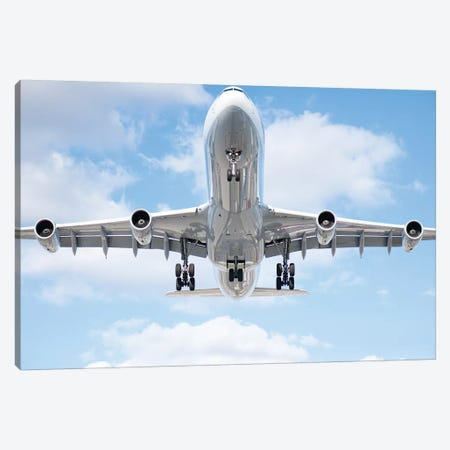 Aviation Lufthansa A340 Canvas Print #ADB10} by Addis Brown Canvas Art Print