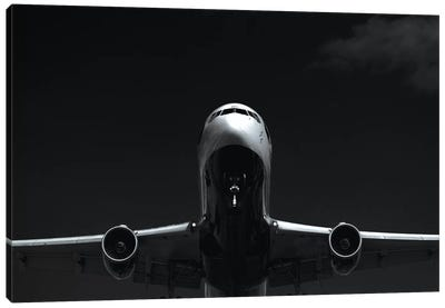 Black And Silver Study 767 Approach Canvas Art Print