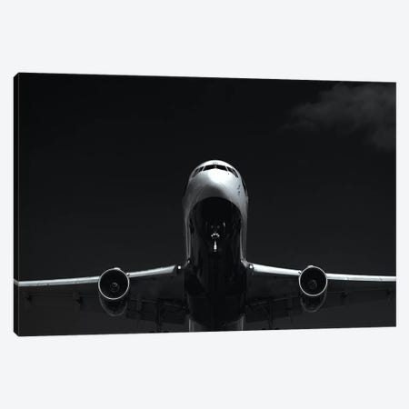 Black And Silver Study 767 Approach 3-Piece Canvas #ADB12} by Addis Brown Art Print