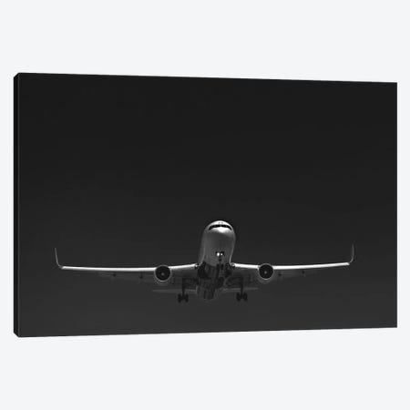 Black And Silver Study 767 Landing Canvas Print #ADB13} by Addis Brown Art Print