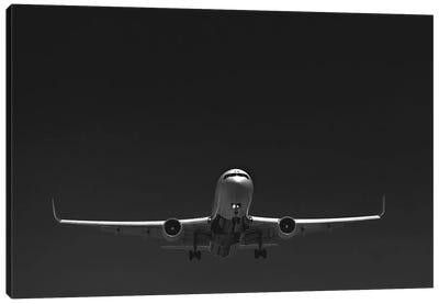 Black And Silver Study 767 Landing Canvas Art Print