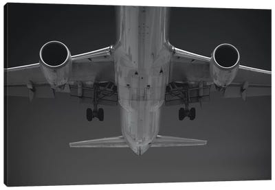 Black And Silver Study Airbus Belly Canvas Art Print