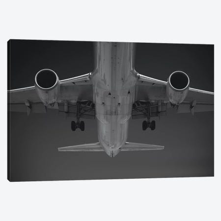 Black And Silver Study Airbus Belly 3-Piece Canvas #ADB18} by Addis Brown Canvas Print