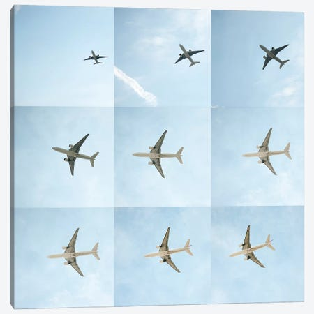 Aviation Air France 777 Grid Canvas Print #ADB1} by Addis Brown Canvas Art