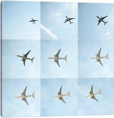 Aviation Air France 777 Grid Canvas Art Print