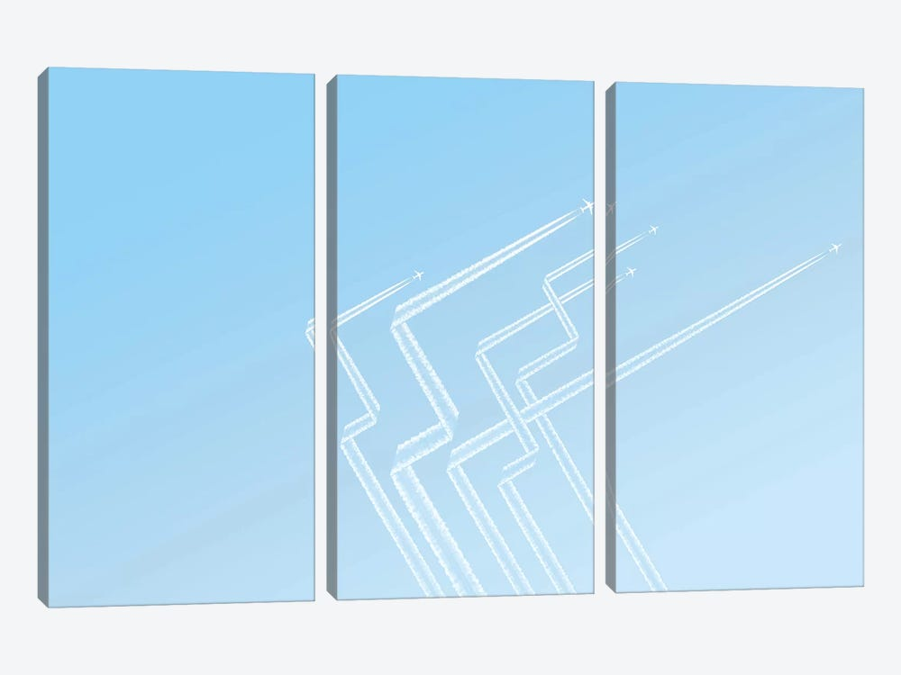 Ribbons by Addis Brown 3-piece Canvas Artwork