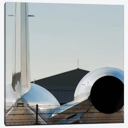 Aviation Bizjet Tail Reflection Canvas Print #ADB5} by Addis Brown Art Print