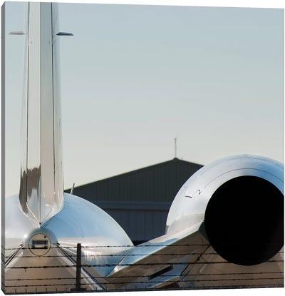 Aviation Bizjet Tail Reflection Canvas Art Print