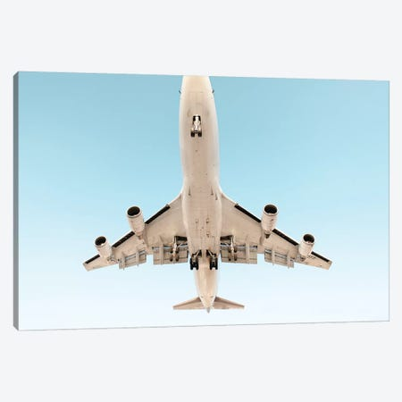 Aviation Klm 747 Nose Cropped 3-Piece Canvas #ADB9} by Addis Brown Canvas Art
