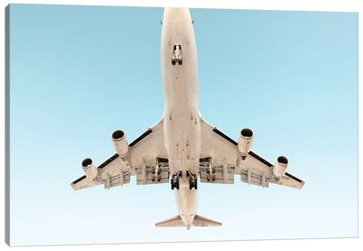 Aviation Klm 747 Nose Cropped Canvas Art Print