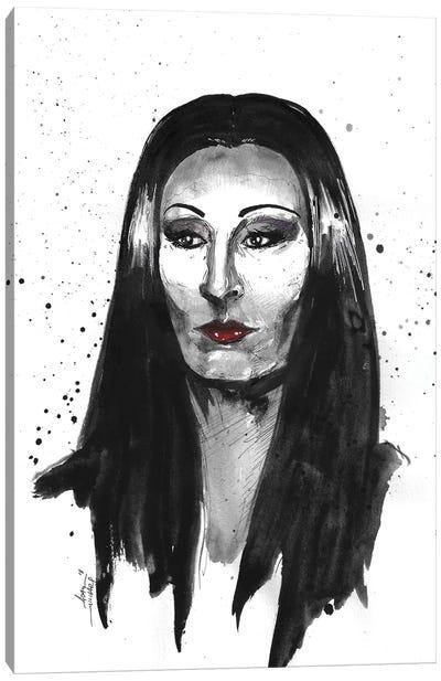 Morticia Addams Canvas Art Print