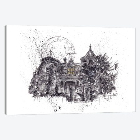 Munsters House Canvas Print #ADC102} by Adam Michaels Canvas Art Print