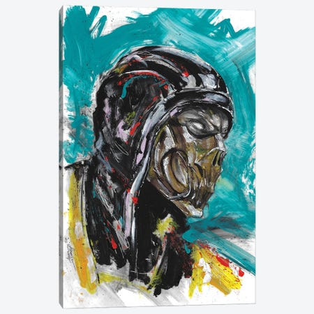 Scorpion Head Scan Canvas Print #ADC115} by Adam Michaels Canvas Print