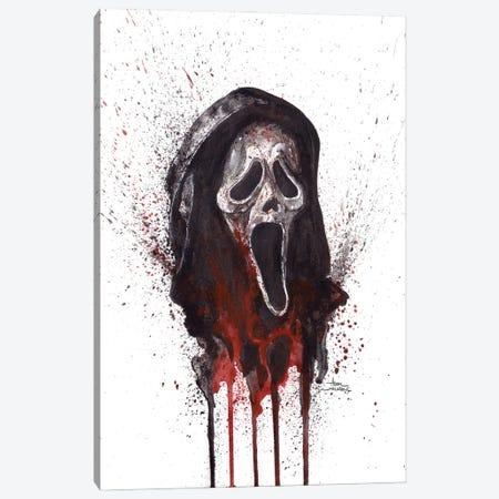 Scream Ghostface Canvas Print #ADC117} by Adam Michaels Canvas Print
