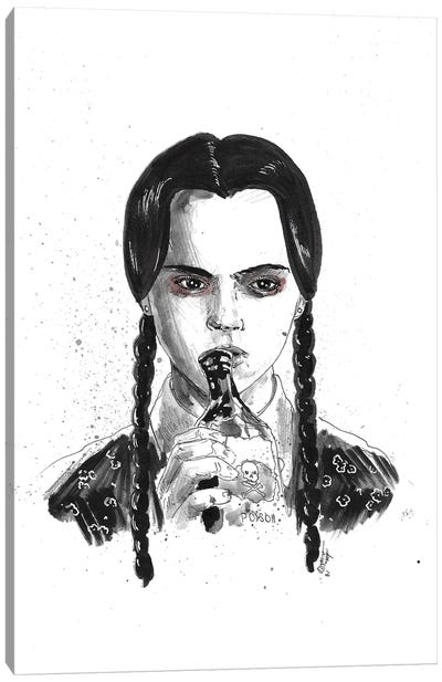 Wednesday Addams Canvas Art Print