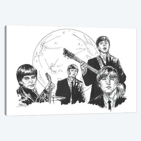 Beatles Vampire Canvas Print #ADC16} by Adam Michaels Art Print