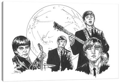Beatles Vampire Canvas Art Print
