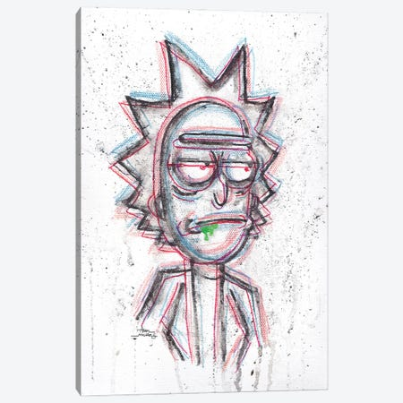 3D Rick With Green Drool Canvas Print #ADC1} by Adam Michaels Canvas Art Print