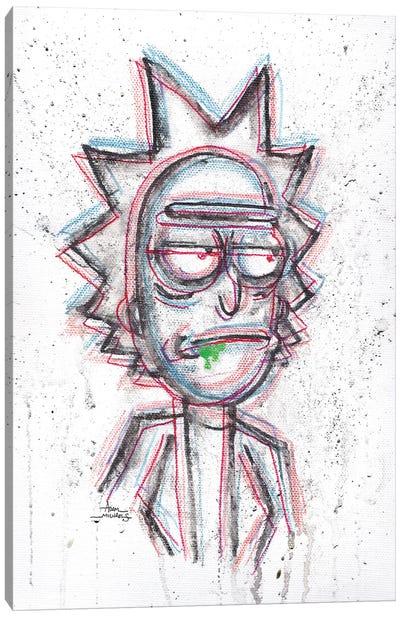 3D Rick With Green Drool Canvas Art Print