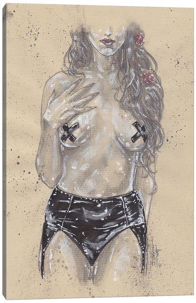 Beside Herself Bondage Canvas Art Print