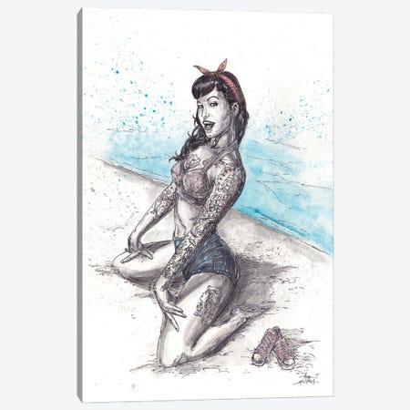 Betty Paige Canvas Print #ADC23} by Adam Michaels Art Print