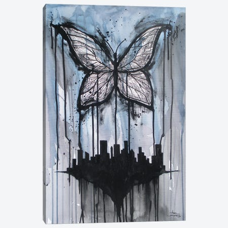 Butterfly City Canvas Print #ADC25} by Adam Michaels Canvas Wall Art