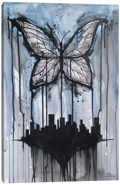 Butterfly City Canvas Art Print