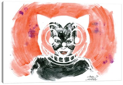 Catwoman Window Canvas Art Print
