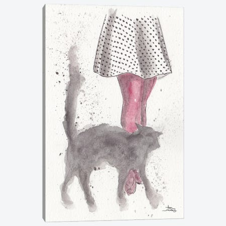 City Kitty Canvas Print #ADC27} by Adam Michaels Canvas Art