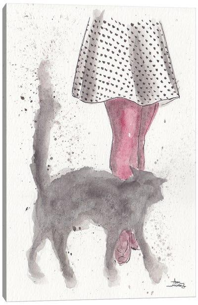 City Kitty Canvas Art Print
