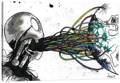 Color Through Sound Robot Canvas Art Print