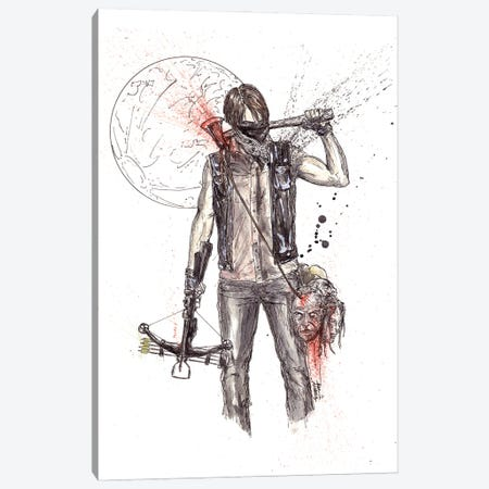 Daryl But Things Changed Walking Dead Canvas Print #ADC31} by Adam Michaels Canvas Wall Art