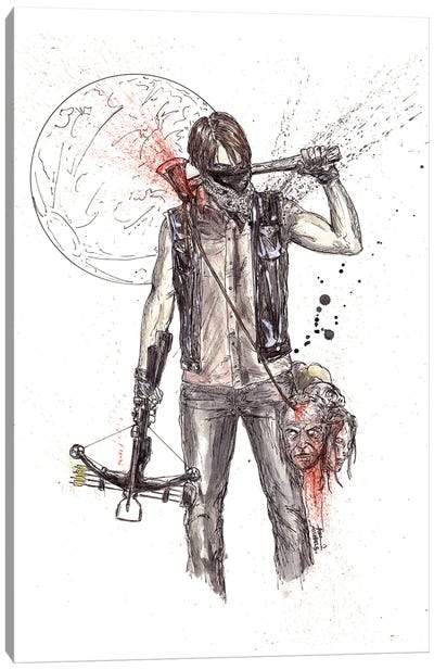 Daryl But Things Changed Walking Dead Canvas Art Print