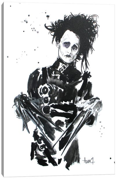 Ed Scissorhands Canvas Art Print