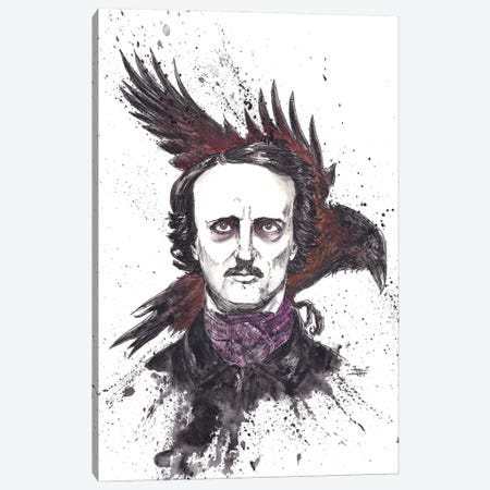 Edgar Allen Poe Canvas Print #ADC39} by Adam Michaels Canvas Art