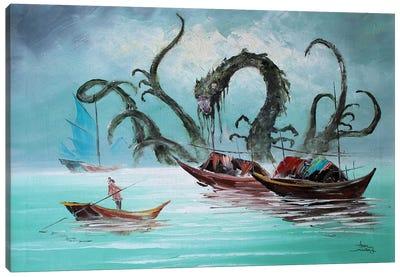 First Sea Landscape Monster Canvas Art Print