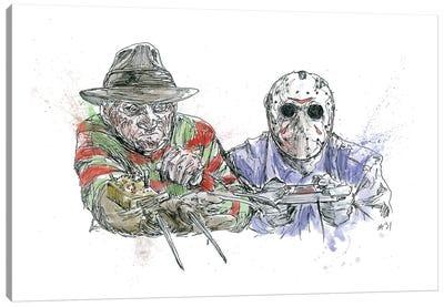 Freddy Vs Jason Canvas Art Print