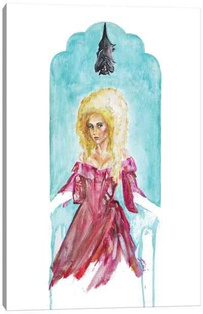 Hands Of Light Witch Bat Canvas Art Print