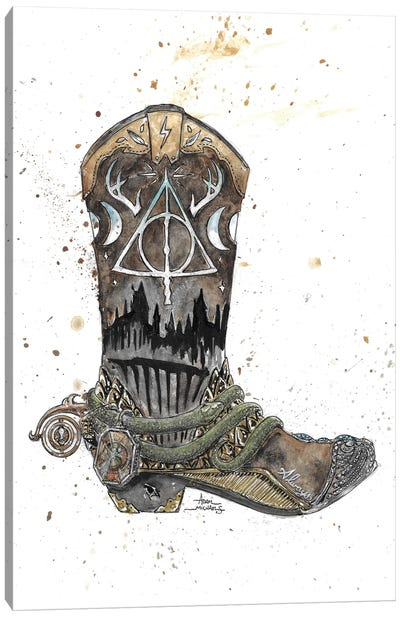 Harry Potter Boot Canvas Art Print