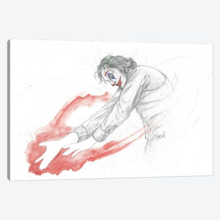 Joker Dance Canvas Print #ADC71} by Adam Michaels Canvas Wall Art