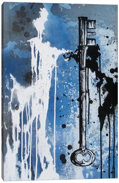 Key Black And White Canvas Art Print