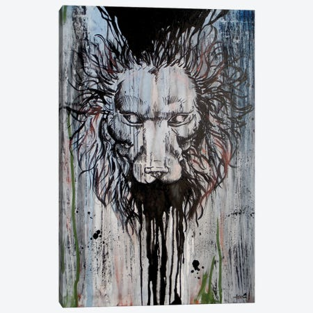 Lion Head On Trip Canvas Print #ADC81} by Adam Michaels Canvas Print