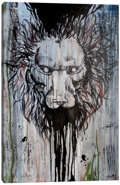 Lion Head On Trip Canvas Art Print