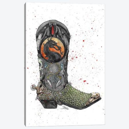 Mortal Kombat Boot Canvas Print #ADC95} by Adam Michaels Art Print