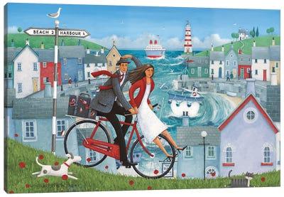Bicycle Seascape Artwork Canvas Art Print